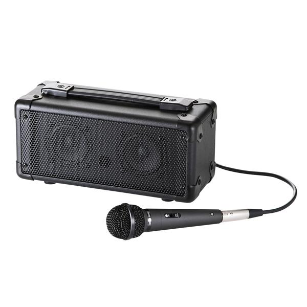 サンワサプライ:マイク付き拡声器スピーカー(Bluetooth対応) MM-SPAMPBT