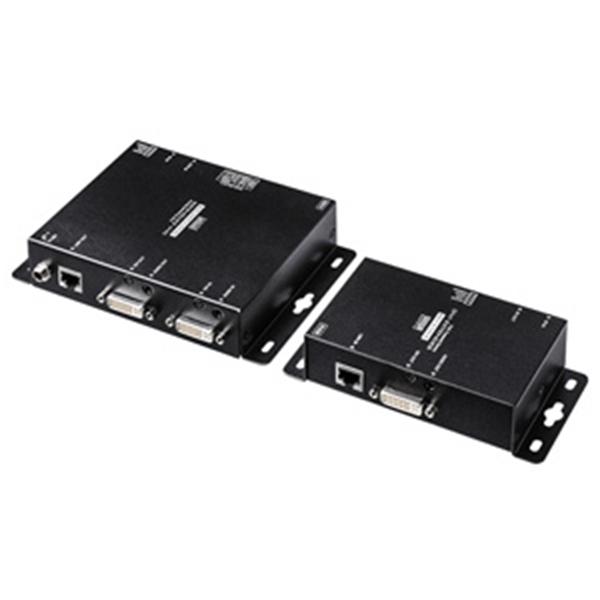 【代引不可】サンワサプライ:PoE対応DVIエクステンダー(セットモデル) VGA-EXDVPOE