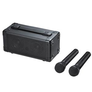 サンワサプライ:ワイヤレスマイク付き拡声器スピーカー MM-SPAMP7