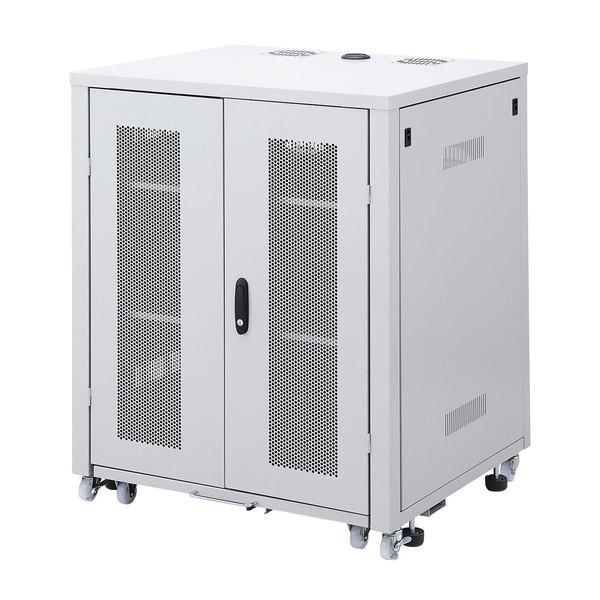 【代引不可】サンワサプライ:W800スライダー棚付きサーバーボックス CP-SVBOX801