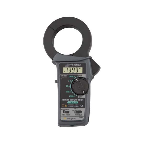 共立電気計器:漏れ電流・負荷電流測定用クランプメータ KEW2413F