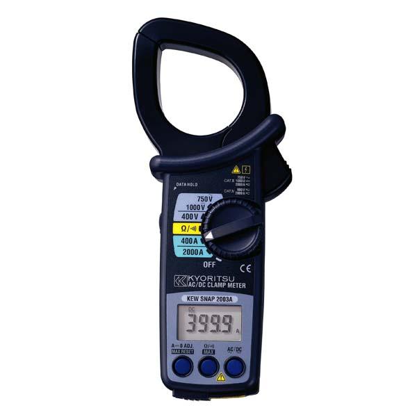 共立電気計器:交流電流・直流電流測定用クランプメータ KEW2003A