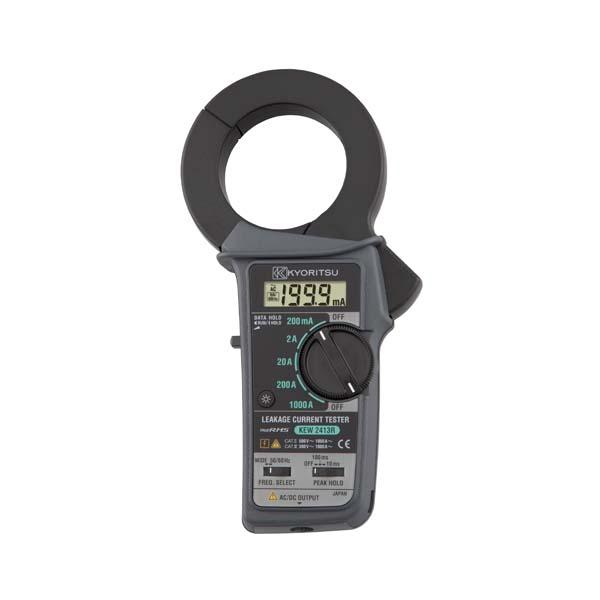 共立電気計器:漏れ電流・負荷電流測定用クランプメータ(RMS) KEW2413R