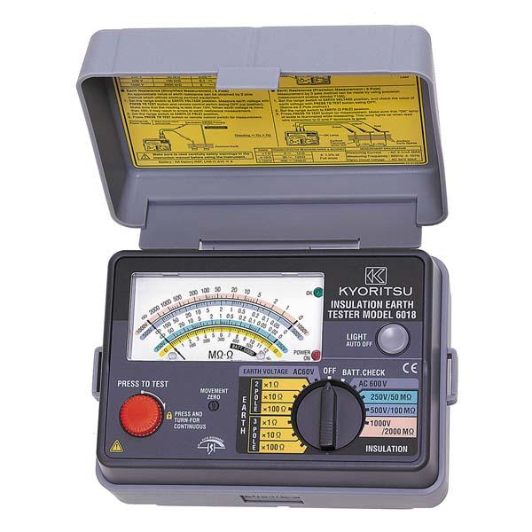 共立電気計器:アナログ絶縁・接地抵抗計 MODEL6018