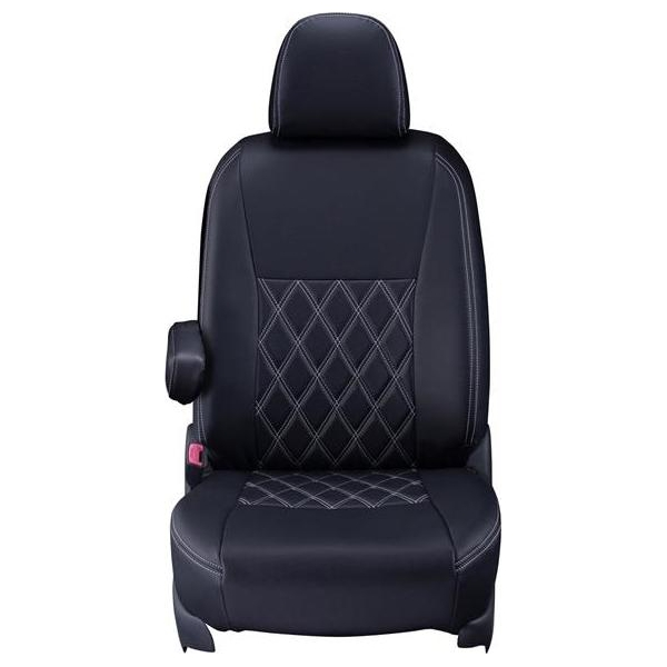 Clazzio(クラッツィオ):シートカバー(ダイヤ)(ブラック×ホワイトステッチ) トヨタ bB QNC20系 ET-0113