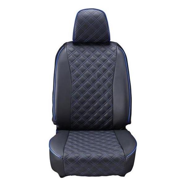 Clazzio(クラッツィオ):シートカバー(キルティングタイプ)(ブラック×ブルーステッチ) トヨタ ウィッシュ 1.8L 10系 ET-0205