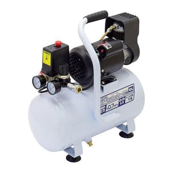 高儀:静音タイプ オイルレスエアーコンプレッサー 10LACP-10A