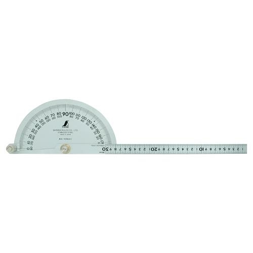 シンワ測定:プロトラクター No.300 シルバー φ210 竿目盛30cm 62898