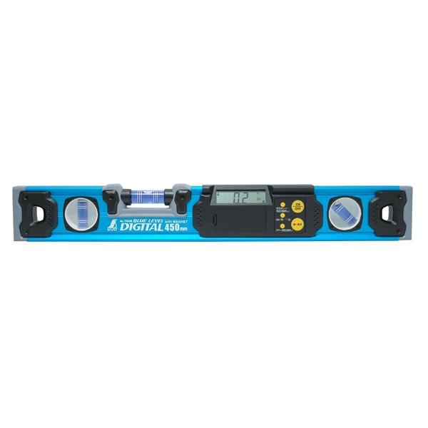 シンワ測定:ブルーレベル デジタル 450mm マグネット付 76349