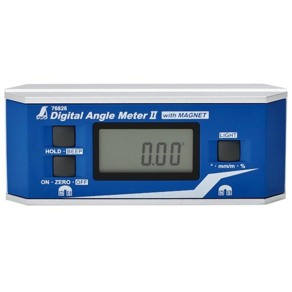 シンワ測定:デジタルアングルメーター II 防塵防水 マグネット付 76826