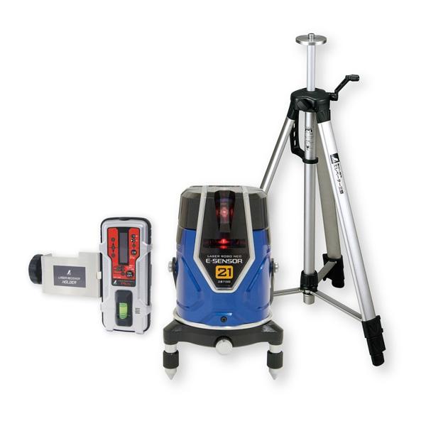 シンワ測定:レーザーロボ Neo E Sensor 21 受光器・三脚セット 71512