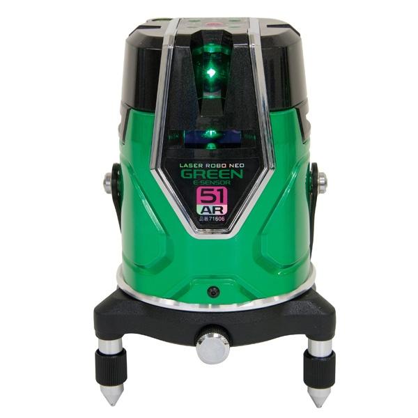シンワ測定:レーザーロボ グリーン Neo E Sensor 51AR フルライン・地墨 71606