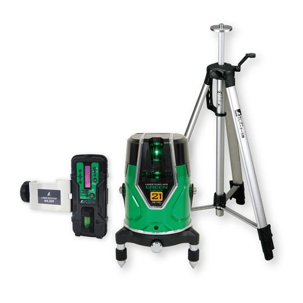 【日本未発売】 シンワ測定:レーザーロボ グリーン Neo E Sensor 21 受光器・三脚セット 71612, スギトマチ 9e540908