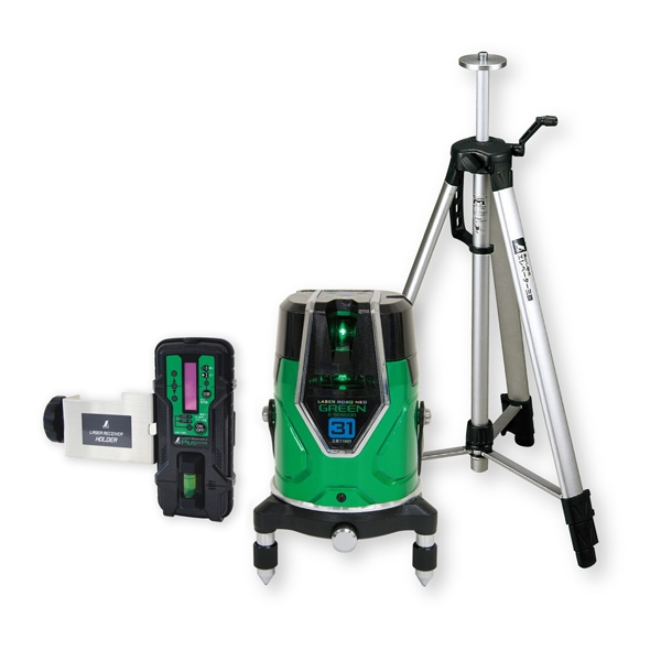 シンワ測定:レーザーロボ グリーン Neo E Sensor 31 受光器・三脚セット 71613