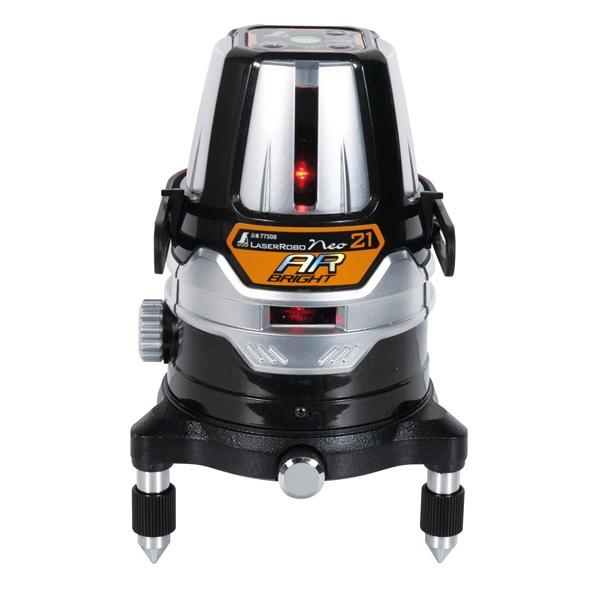 シンワ測定:レーザーロボ Neo 21AR BRIGHT 縦・横全周・地墨 77508