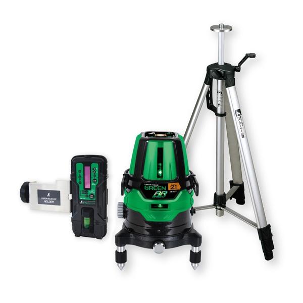 シンワ測定:レーザーロボ グリーン Neo 21AR BRIGHT 受光器・三脚セット 78287