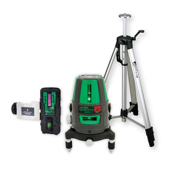 シンワ測定:レーザーロボ グリーン Neo 41 BRIGHT 受光器・三脚セット 78291