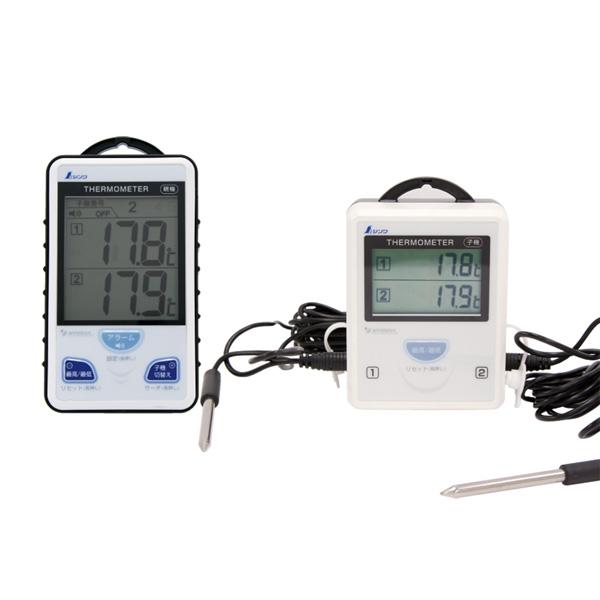 シンワ測定:ワイヤレス温度計 A 最高・最低 隔測式ツインプローブ 防水型 73241