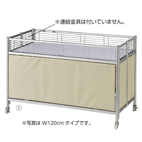 店研創意:中折れワゴン W90cm アイボリーテント 61-653-64-1