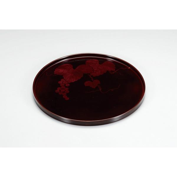 【代引不可】越前漆器:溜ぶどう 丸盆 EZ201331
