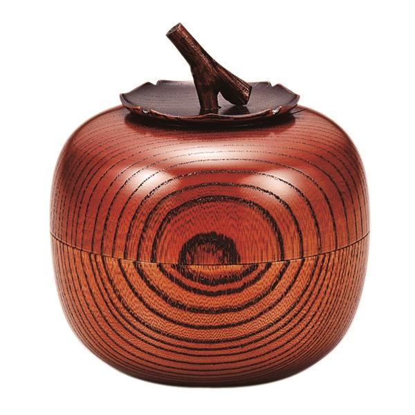 浅田漆器工芸:欅茶入 柿 AS3-6