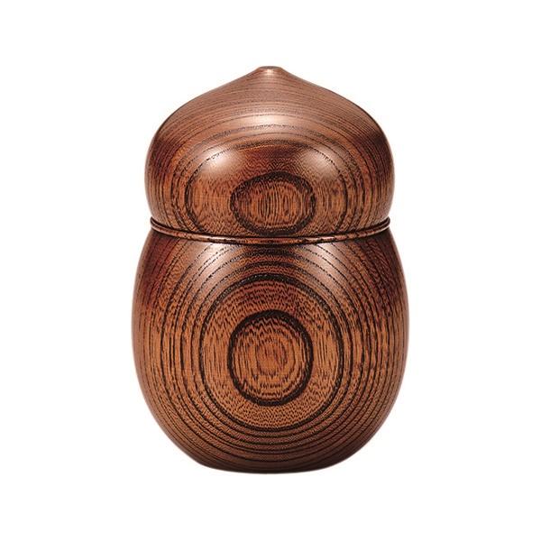 浅田漆器工芸:欅茶入 ひょうたん AS3-5