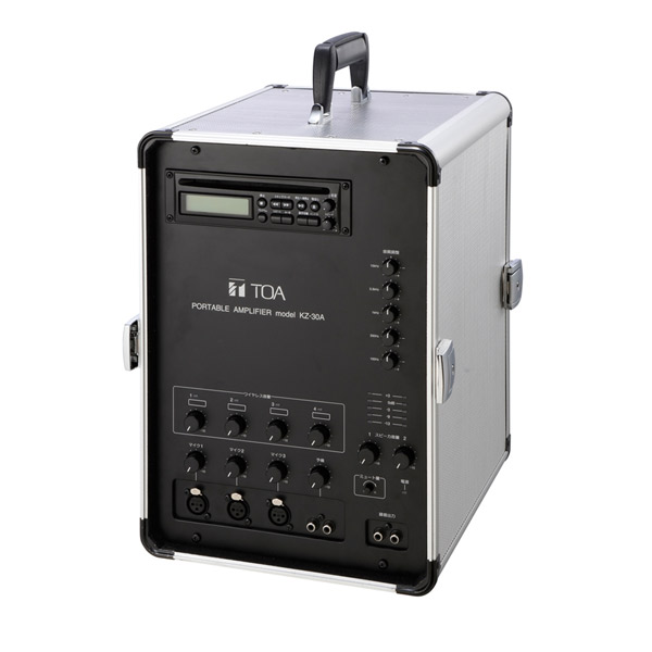 【代引不可】TOA:移動用PAアンプ 30W×2ch CD付 KZ-30A