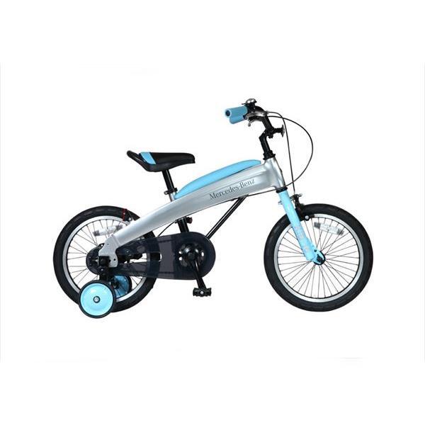 【代引不可】【法人限定】東部:メルセデス・ベンツ 幼児用自転車 16型 ライトブルー MB-16