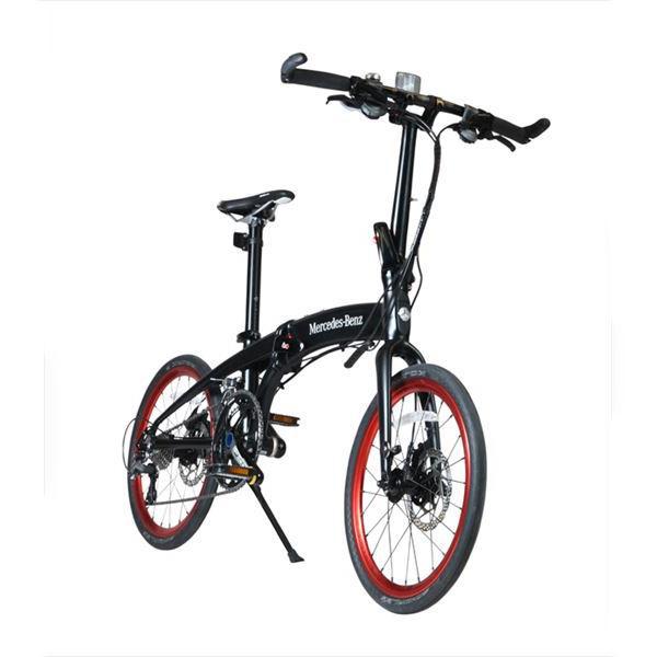 【代引不可】【法人限定】東部:メルセデス・ベンツ 20型折りたたみ自転車 20段変速 マットブラック MB-20FD-EX20