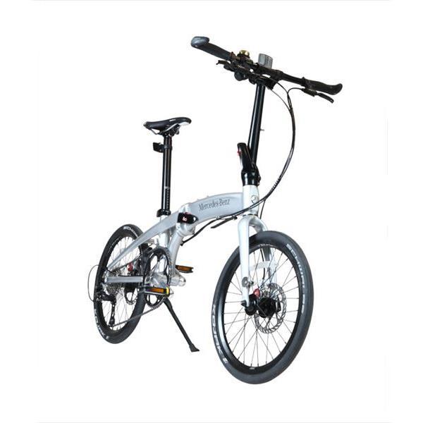 【代引不可】【法人限定】東部:メルセデス・ベンツ 20型折りたたみ自転車 9段変速  シルバー MB-20FD-ST9