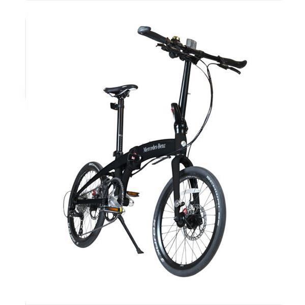 【代引不可】【法人限定】東部:メルセデス・ベンツ 20型折りたたみ自転車 9段変速  マットブラック MB-20FD-ST9