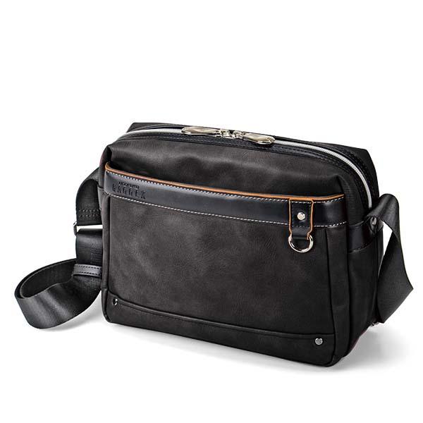 ウノフク:BAGGEX ギャラン ショルダーバッグ横型 ブラック 13-6099-10