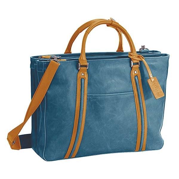 ウノフク:BAGGEX ヴィンテージ アイ トートバッグ三層式 ブルー 23-5579-82