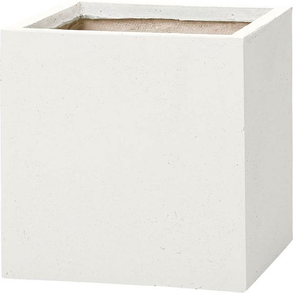 【代引不可】ユニソン(UNISON):ベータ キューブプランター XL ホワイト 652421110