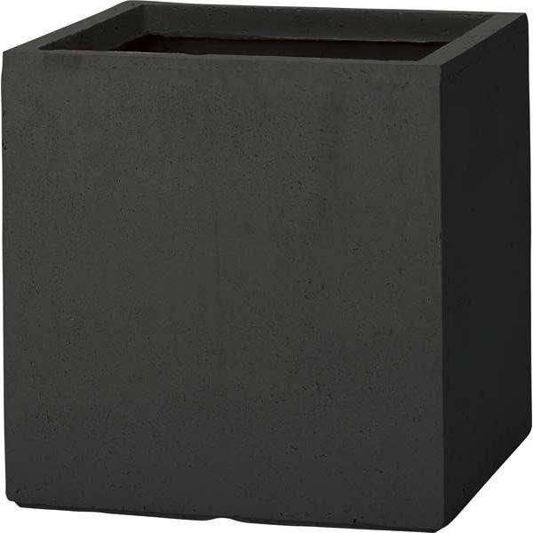 【代引不可】ユニソン(UNISON):ベータ キューブプランター L ブラック 652421230