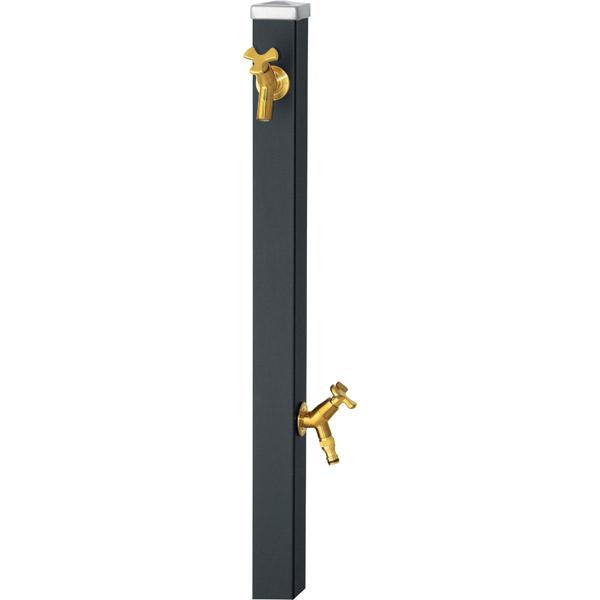 ユニソン(UNISON):スプレスタンド60 左右仕様 マットブラック 蛇口2個セット ゴールド 600532310