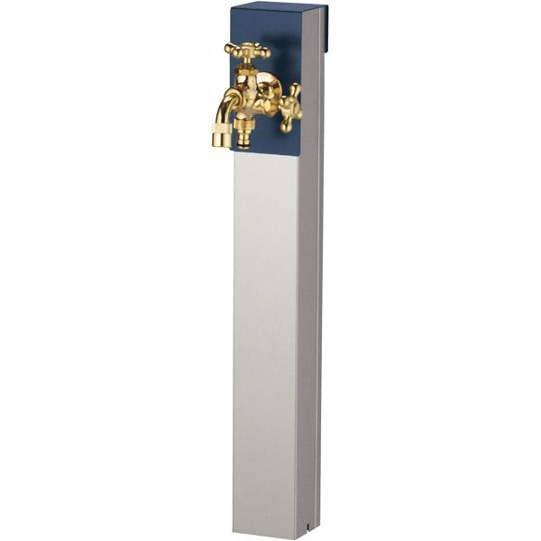 ユニソン(UNISON):リーナアロン 650スタンド ミッドナイトブルー ツイン蛇口1個セット ゴールド 600612210