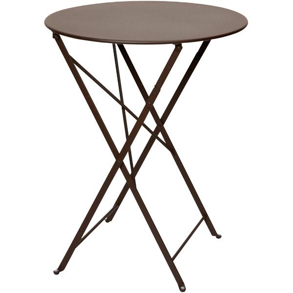 ユニソン(UNISON):ビストロテーブル600 (ブラウン) 650211410
