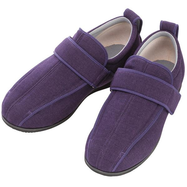 徳武産業:ケアフルIII 9E紫 3L 7043 面ファスナー 介護 靴 シューズ 介護用品 リハビリ ウォーキング ケア 高齢者 シニア おしゃれ 運動 祖父 祖母 紳士 婦人 福祉 老人