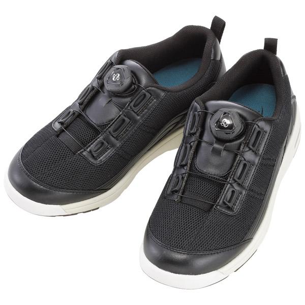 徳武産業:Boaウォーク 黒 5L 1901 結ばない 介護 靴 シューズ 介護用品 リハビリ ウォーキング ケア 高齢者 シニア おしゃれ 運動 祖父 祖母 紳士 婦人 福祉 老人