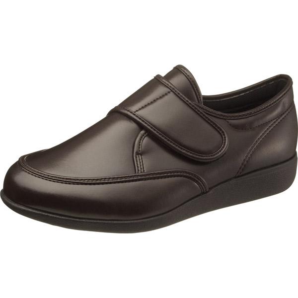 アサヒシューズ:快歩主義 M021 ブラウンスムース 26.5 KS22883SM 面ファスナー 介護 靴 シューズ 介護用品 リハビリ ウォーキング ケア 高齢者 シニア おしゃれ 運動 祖父 紳士 福祉 老人