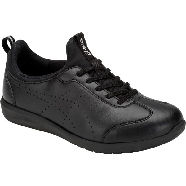 アシックス:ライフウォーカーニーサポート2(W)ブラック×ブラック21.5 1242A002 介護 靴 シューズ 介護用品 リハビリ ウォーキング ケア 高齢者 シニア おしゃれ 運動 祖父 祖母 紳士 婦人 福祉 老人