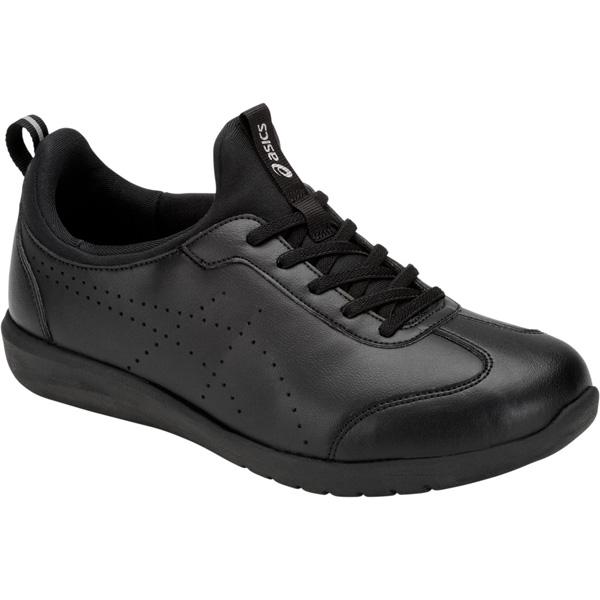 アシックス:ライフウォーカーニーサポート2(W)ブラック×ブラック24.5 1242A002 介護 靴 シューズ 介護用品 リハビリ ウォーキング ケア 高齢者 シニア おしゃれ 運動 祖父 祖母 紳士 婦人 福祉 老人