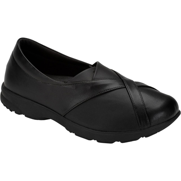 アシックス:ライフウォーカーボシサポート1(W)ブラック×ブラック24.5 1132A001 001 スリッポン 介護 靴 シューズ 介護用品 リハビリ ウォーキング ケア 高齢者 シニア おしゃれ 運動 祖父 祖母 紳士 婦人 福祉 老人