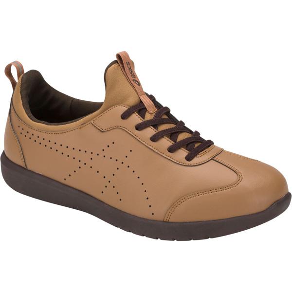 アシックス:ライフウォーカーニーサポート3キャメル×キャメル26.5 1242A003 介護 靴 シューズ 介護用品 リハビリ ウォーキング ケア 高齢者 シニア おしゃれ 運動 祖父 祖母 紳士 婦人 福祉 老人