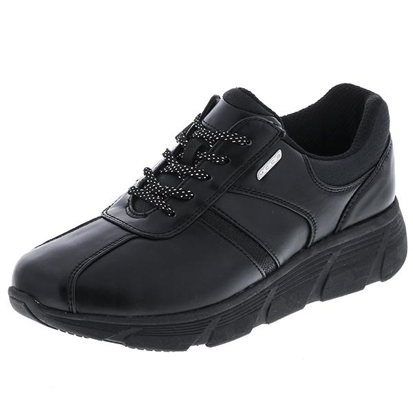 アシックス商事:KNEES UP(ニーズアップ) ブラック24.0 RL-9003 介護 靴 シューズ 介護用品 リハビリ ウォーキング ケア 高齢者 シニア おしゃれ 運動 祖父 祖母 紳士 婦人 福祉 老人
