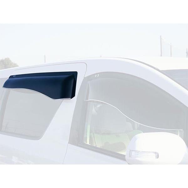 オックスバイザー:サイドバイザー ブラッキーテン AZワゴン ワゴンR・スティングレー リア用 オックスバイザー BLR-47