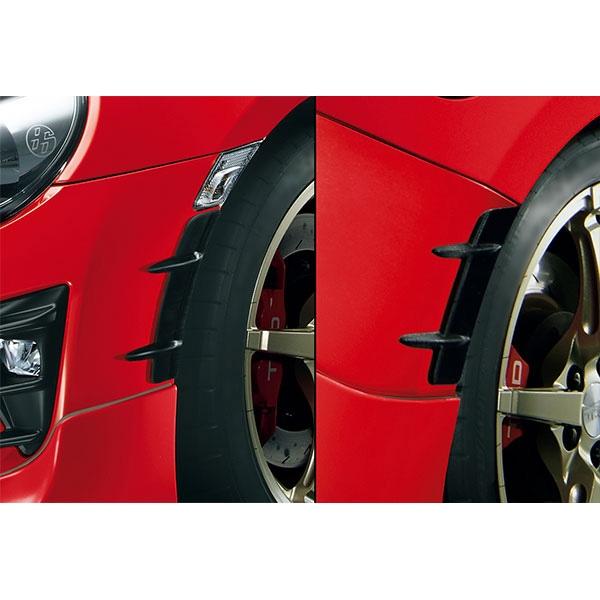 TRD:エアロタービュレーター トヨタ 86 マイナーチェンジ後 TRD MS319-18001 自動車 部品 パーツ ホイールハウス バンパー ブラック 黒