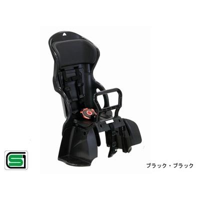 OGK技研(オージーケー技研):ヘッドレスト付 カジュアル 後ろ 子供のせ RBC-015DX ブラック・ブラック 自転車 リア用 チャイルドシート