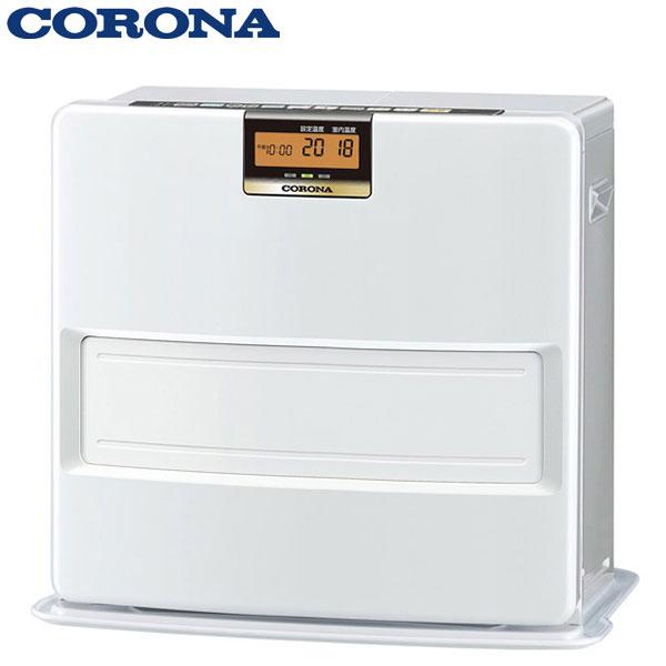 あす楽 コロナ:石油ファンヒーター FH-VX4618BY(W) 臭い 少ない 12畳用 ecoモード 足元温風
